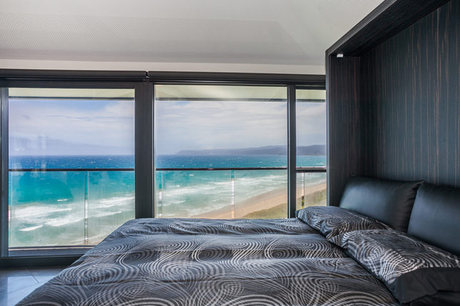 The view of Fairhaven Beach from the bed in the 'Pole House' is magnificent.