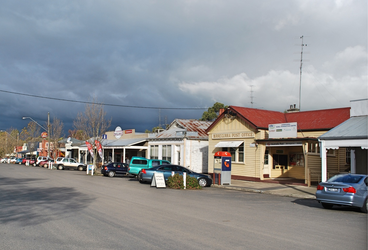 Birregurra features historically quaint, restored buildings.