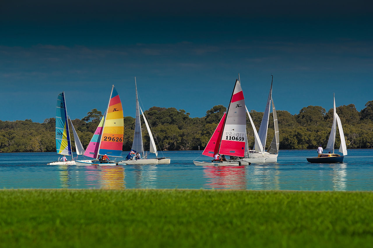 Ballina offers a relaxed atmosphere.