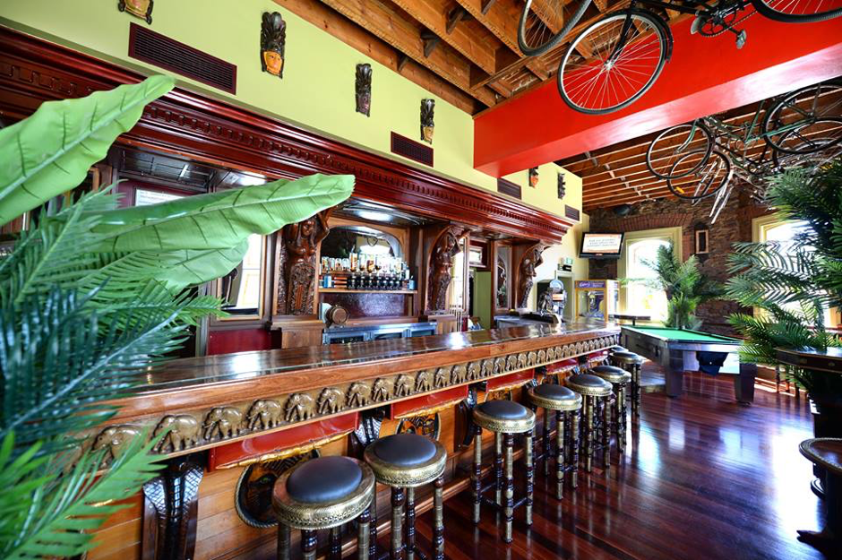 At Bombay Bicycle Club, bicycles hang from the ceiling.