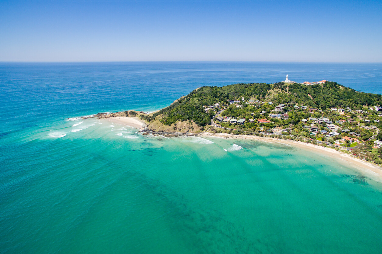 Byron Bay and its picturesque lighthouse