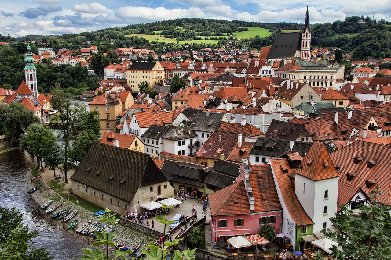 Travel to a cheap European city like Český Krumlov