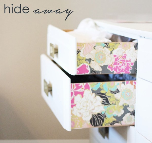 Use colour on the inside of drawers for a sneaky splash of colour.