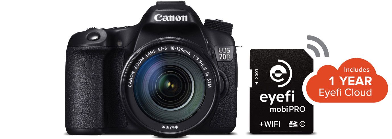 The Eyefi Mobi Pro SDHC memory card includes built in WiFi.