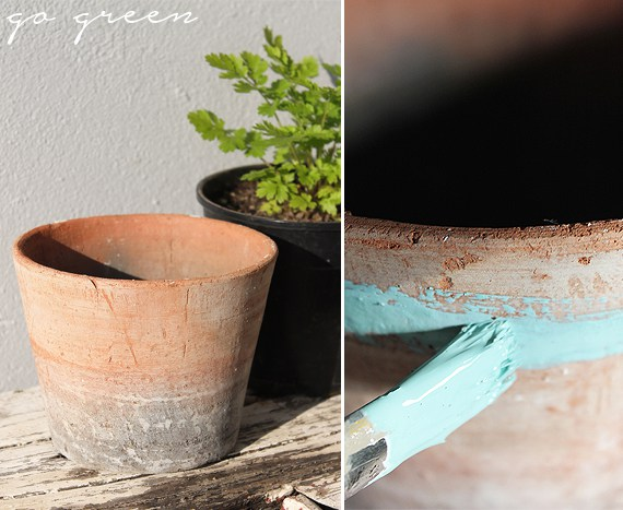 Update plant pot with new paint.