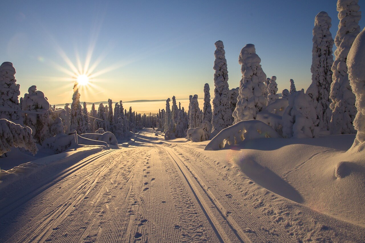 A magical snow scene - Nordic playground