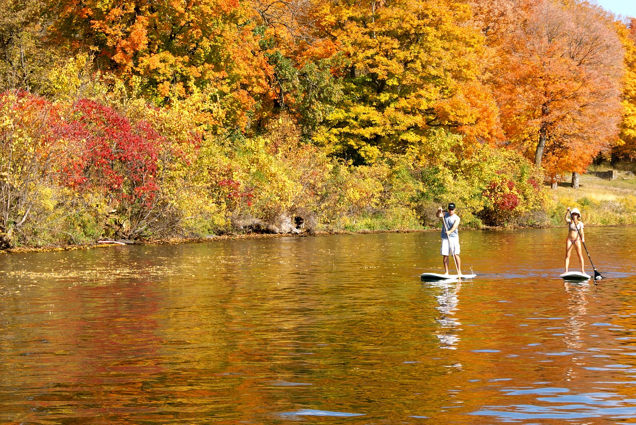 Stand-up paddle boarding builds core, arm and leg strength with a large dose of cardio.