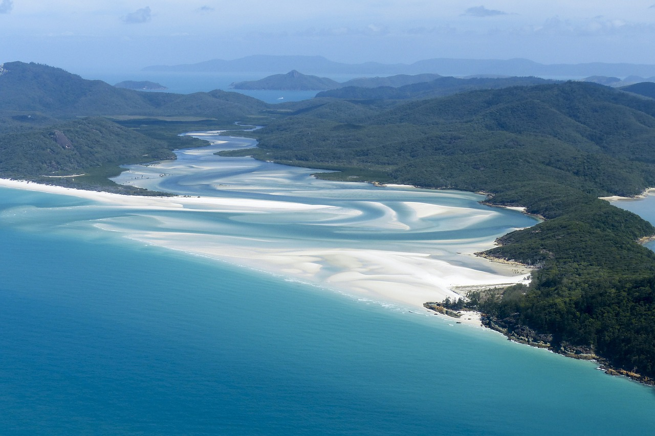 Whitehaven Beach is a daytrip away from Palm Bay Resort on Long Island.