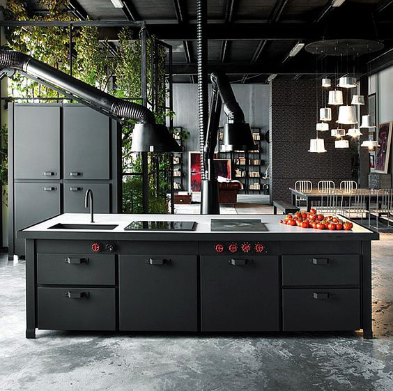 Take the clinical out of an ultra modern space by going for black.