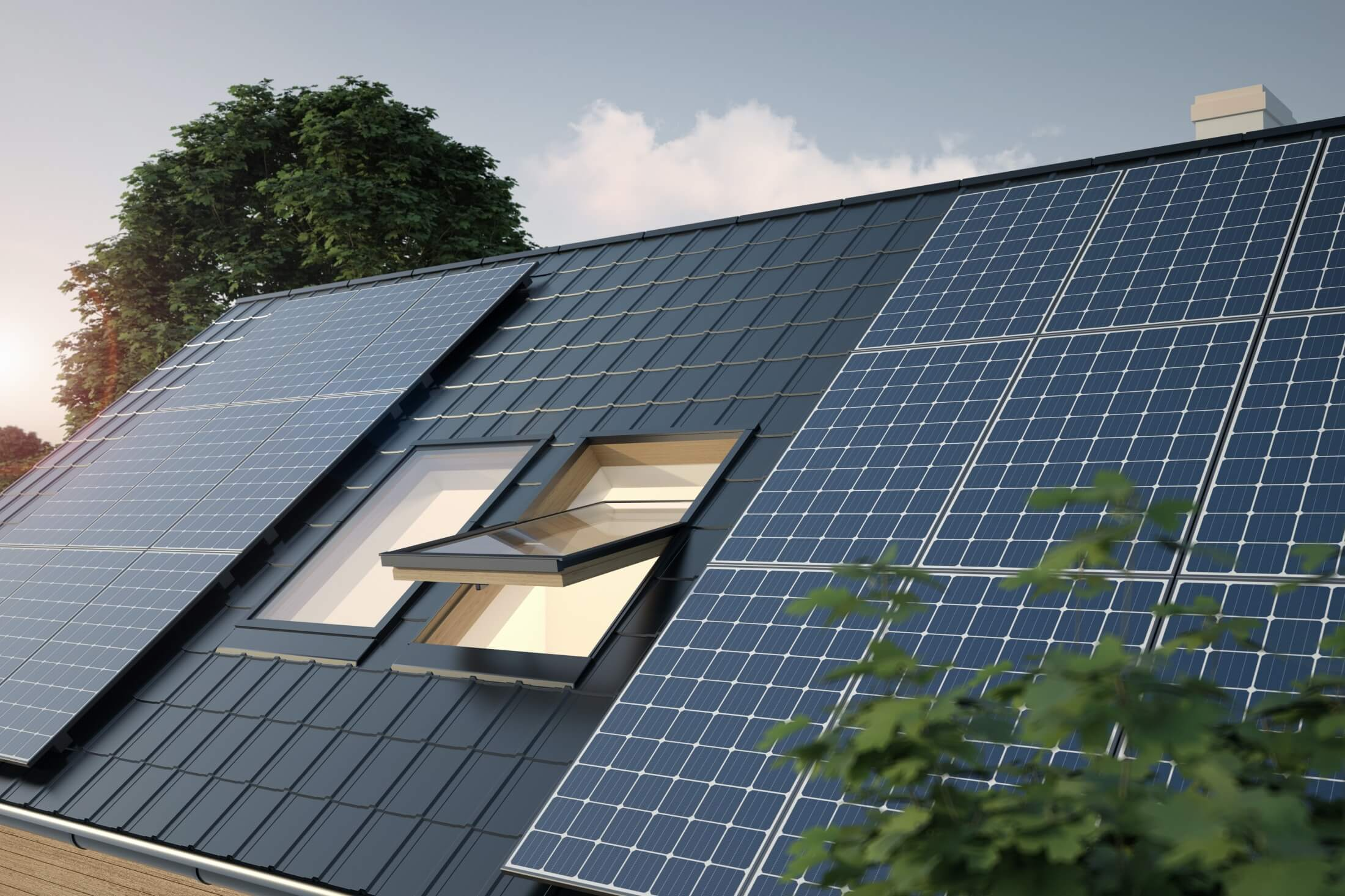 Use green energy by installing solar panels.