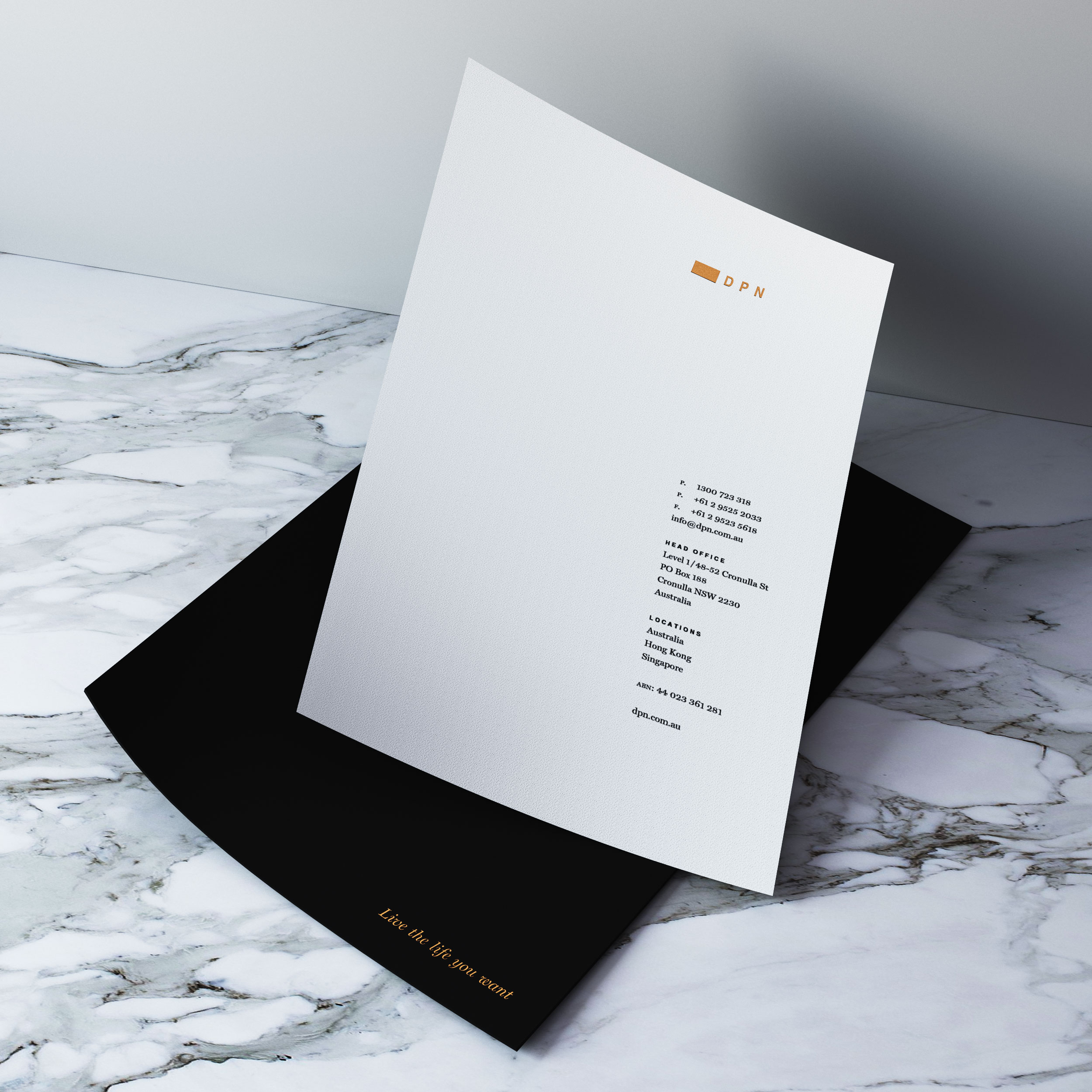 award winning letterhead