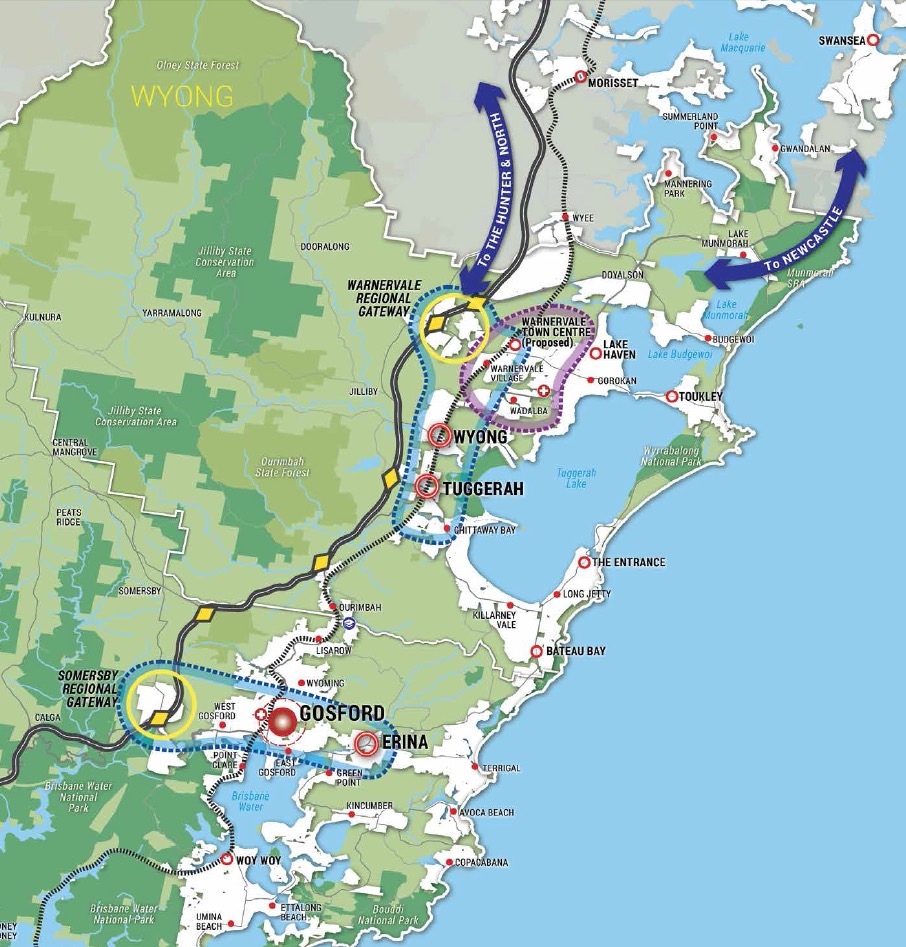 New developments and infrastructure in the Central Coast Region of NSW