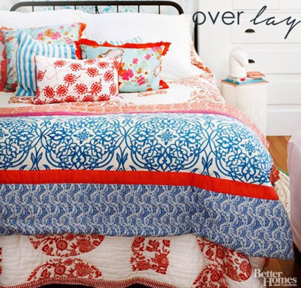 Mixing small-scale patterns is great for small rooms.