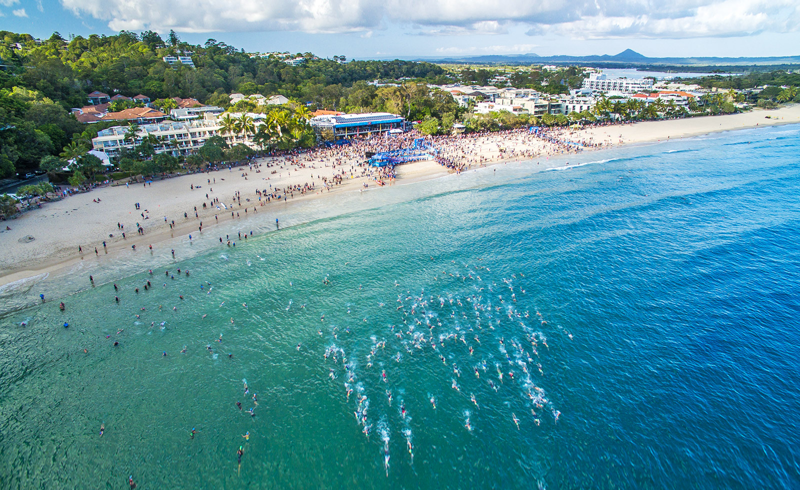 Watch the world's largest Olympic distance triathlon in Noosa.