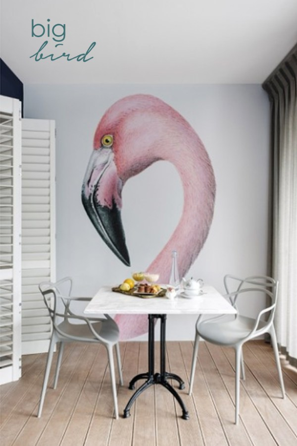 Massively oversized prints can do wonders to enlarge a little room.