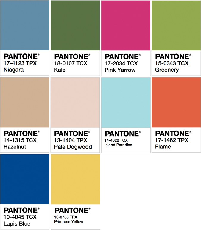 Pantone palette reminiscent of an African landscape and sunset