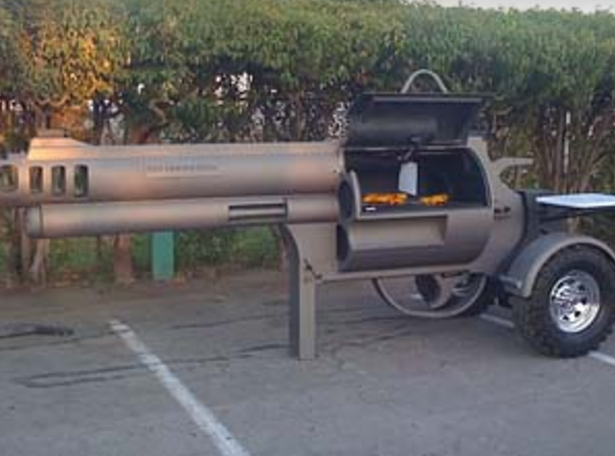 Unique pistol BBQ grill