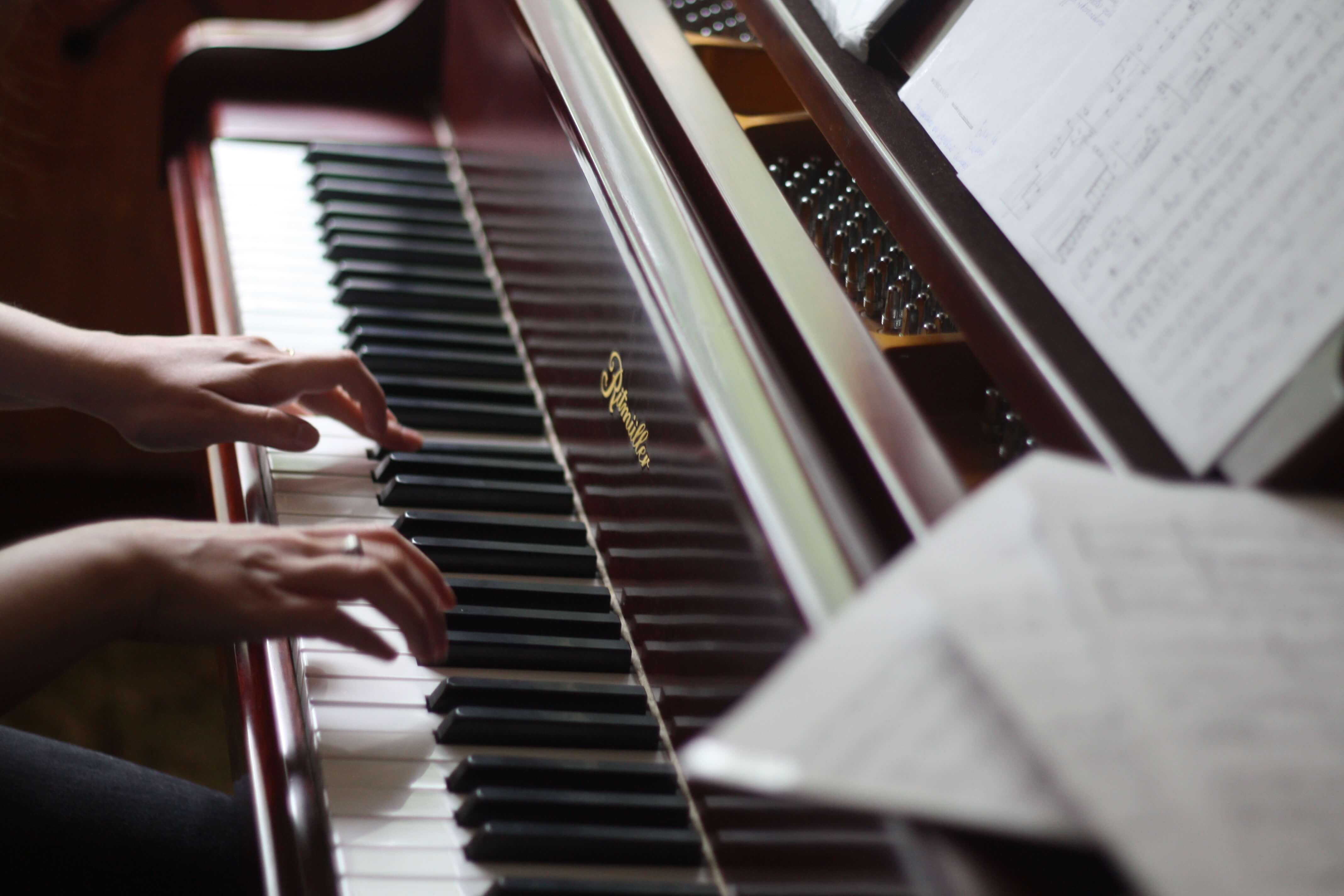 Play a musical instrument like a piano