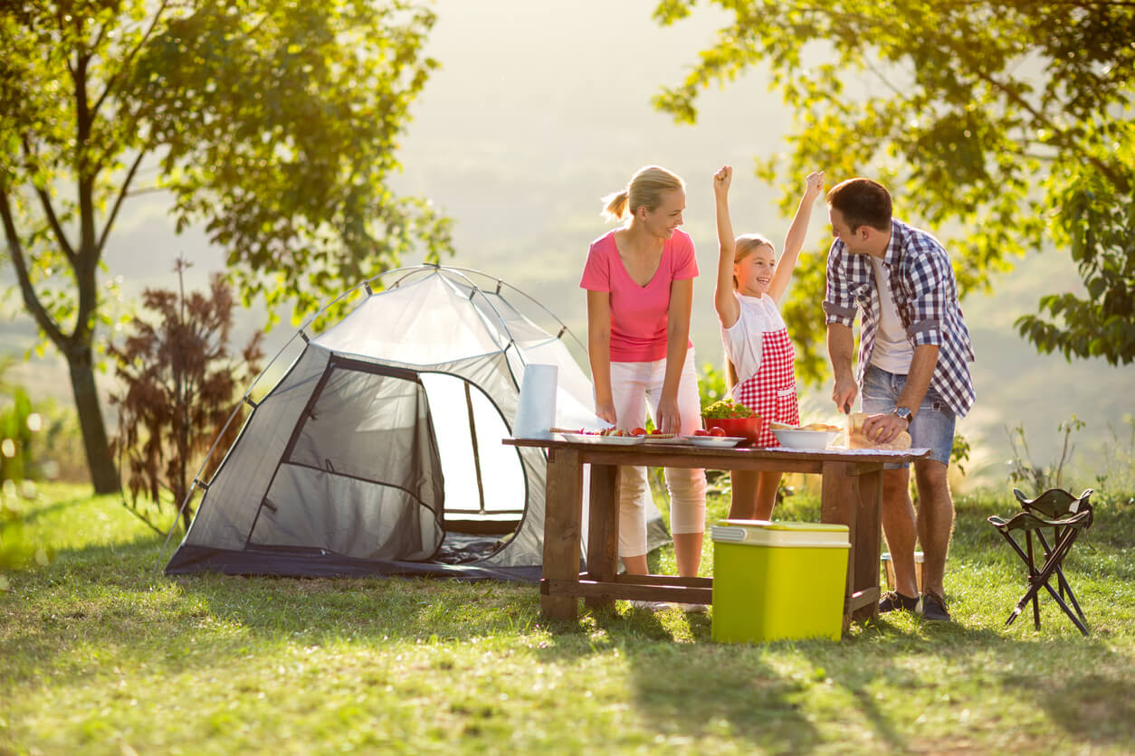 Swap the gym for family camping.