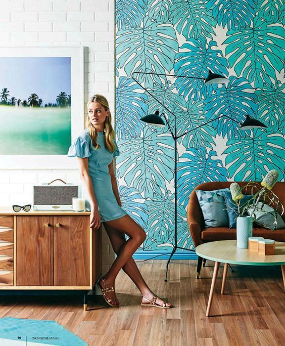 Get a 70's vibe going by incorporating bright colours into your interior.