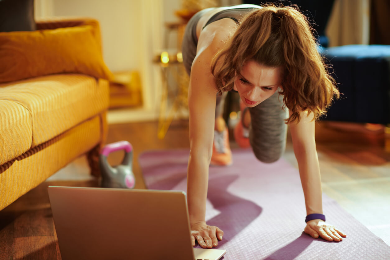 Hire a virtual trainer to exercise at home.