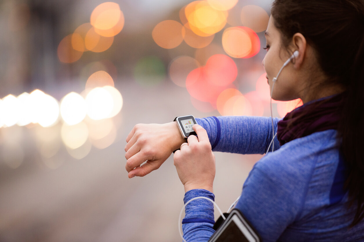 Smartwatches track your steps for the day.