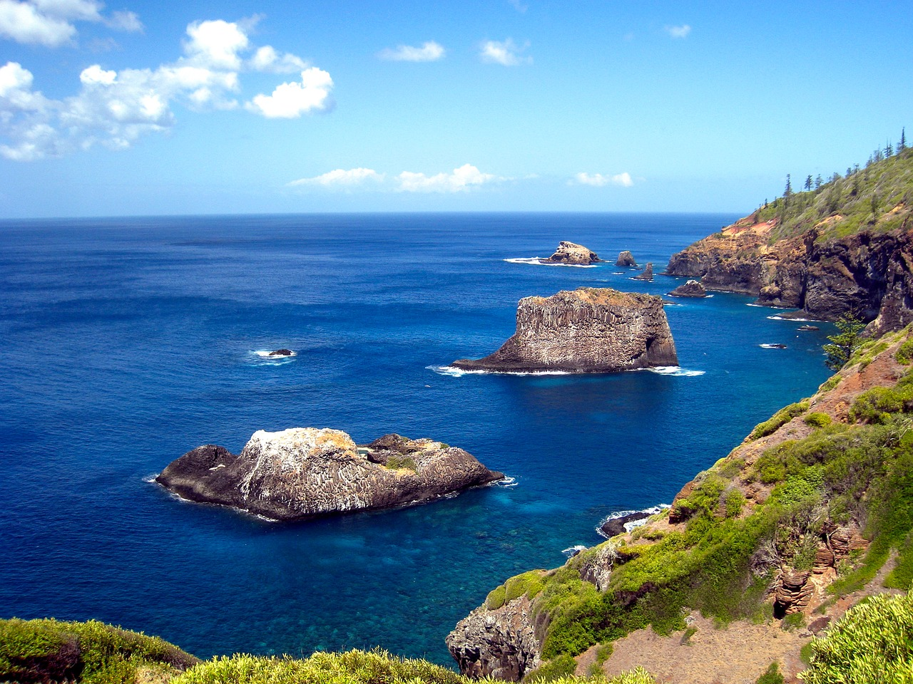 The majestic cliffs make Norfolk an island jewel.