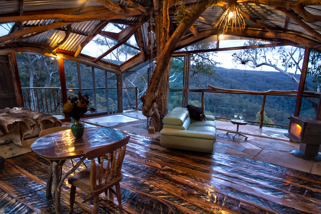 Wollemi Wilderness Retreat sits among 600 acres of bush, in the Blue Mountains.